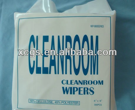 polyester cleanroom wipers/cleaning wipers for industry/cleanroom cloth