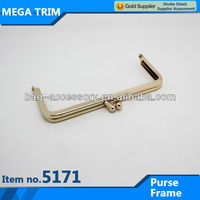 No.5171 wholesale fashion light gold kiss lock clasp