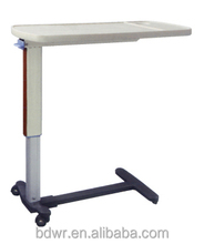 Adjustable over bed table/hospital over bed table /dining table with wheels