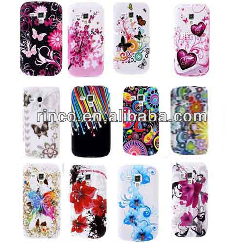 Colorful Silicone Flower Phone Case Cover For Samsung Galaxy S3 Mini i8190 Case
