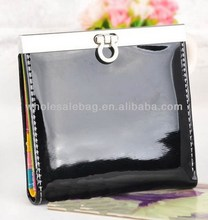 Wholesale Short Leather Women's Clip Purse Wallet