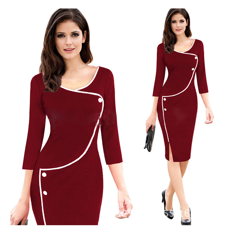 China Manufacturers High Quality classical women fashion solid dress woman clothing plus size sexy dress