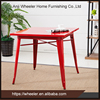 Home Furniture Metal Table Restaurant Red