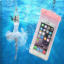4.5 to 6 inch Universal PVC Fluorescent Light agm rock v5 3g waterproof android phone tote bag phone raincoat