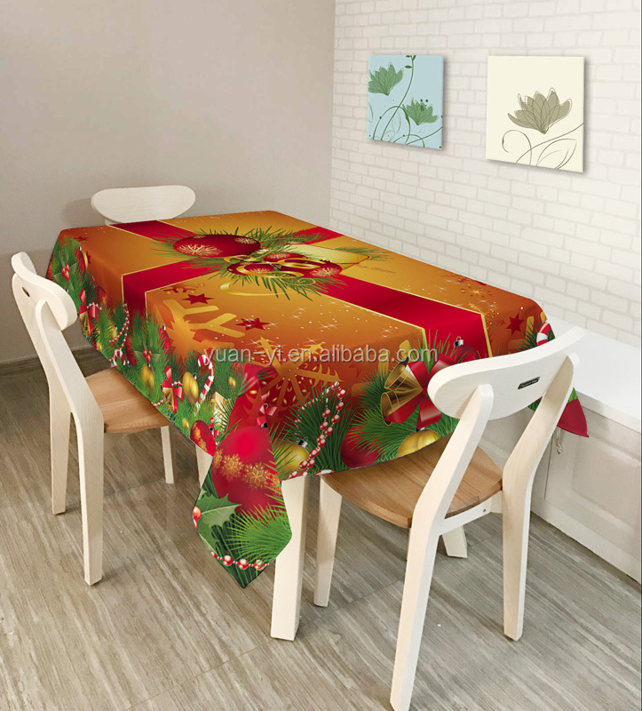 Christmas Digital Printed Customized Durable Beautiful Tablecloth