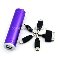 Factory Tube cylinder shape power bank 2600mah Cheap Price OEM Welcome