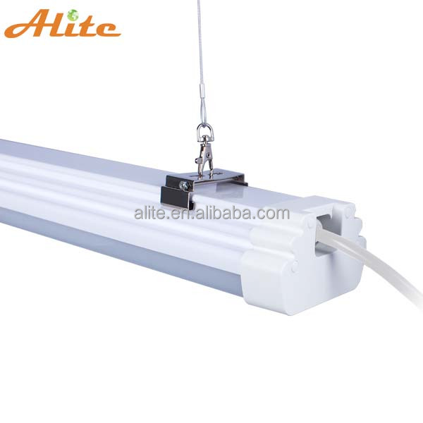 High quality aluminum 1500mm 60W DALI 0-10V dimming 3 hour emergency recessed pendant led linear light