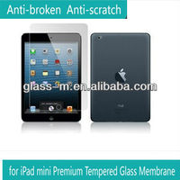 Panel computer accessories tempered glass screen protector for Ipad mini(factory supply)