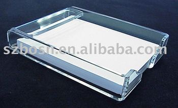 Acrylic Notepad Holder,Plexiglass Book Display,Lucite Memo Holder