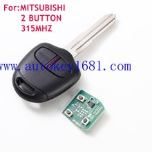 best car key remote for mitsubishi 2 button remote control 315mhz 433mhz Right Blade