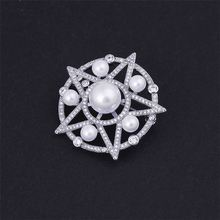 Top fashion good offer different styles star shape elegant charm wedding gift brooch
