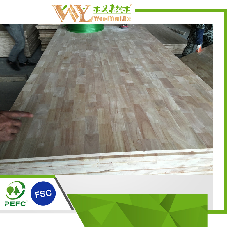 rubber wood tabletop solid/finger joint wood for furniture