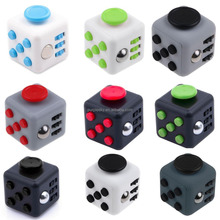 Mixed colors magical cub smooth button desk toy fidget cube as stress reliever and Fidget Toy for child and adult Fidget Cube