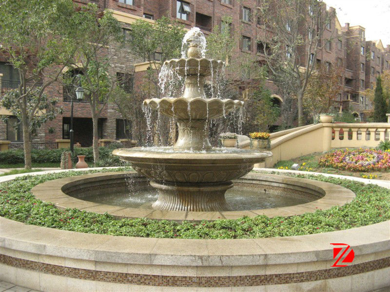 Outdoor granite big water fountains