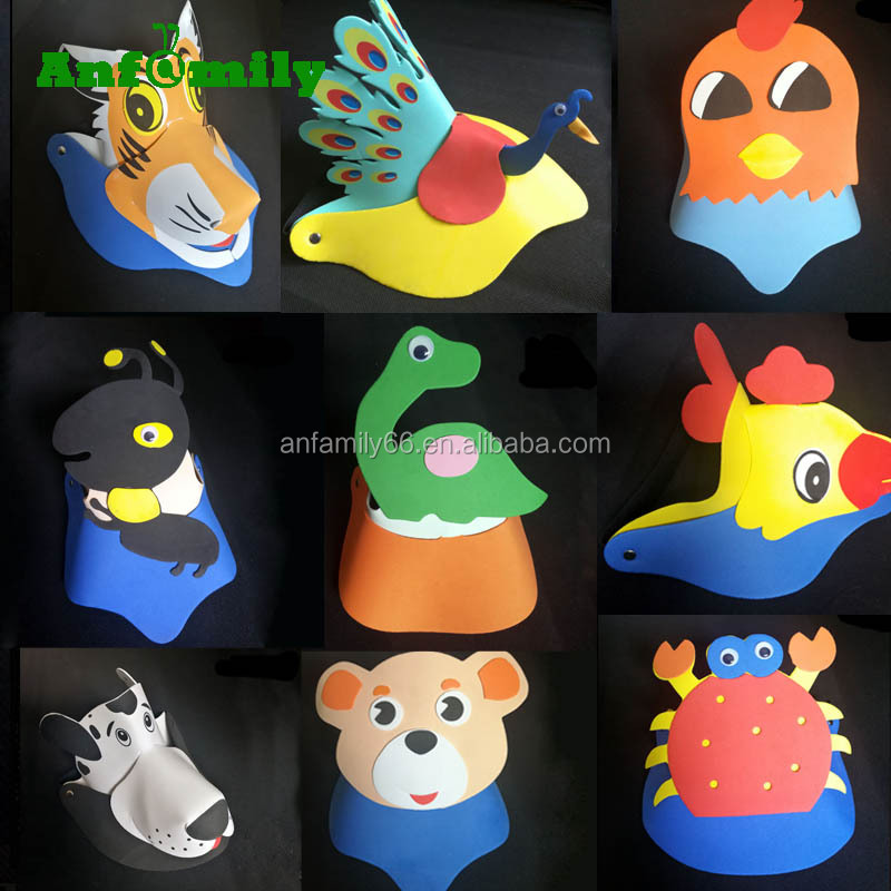 Cute Party Foam EVA Animal Visor Sun Hat EVA Hat
