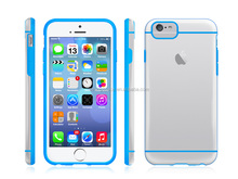 Transparent Hybrid Case for Apple iPhone 6 Air (4.7-inch) Clear/Blue (9-Year Manufacturer Strongspace)