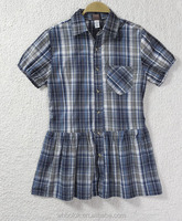 Short sleeve shirt girls shirt cotton summer checked blouse women