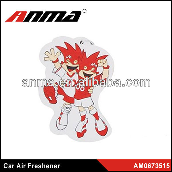 Nice anima cartoon shape car paper air freshener new car smell perfume