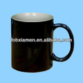 Heat sensitive color changing ceramic magic mug