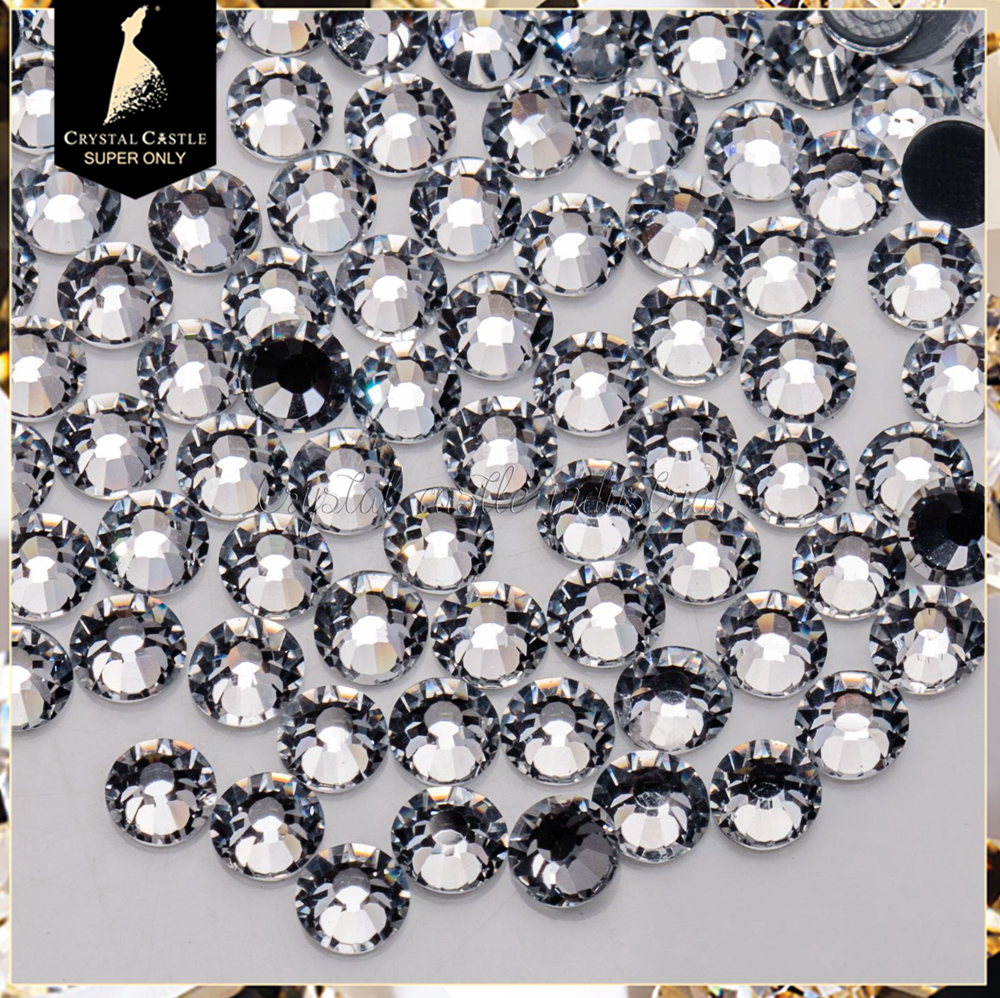 Bulk in stock 5A super shiny clear white ss8 bling glass flatback hotfix rhinestone <strong>crystal</strong> for garments accessories