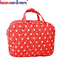 Fashion dots quilted mummy bag best cotton adult baby diaper bag