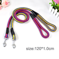 Pet traction with high quality pet round with long braided round wire rope hot dog 120*1.0cm