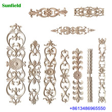 Elegant dongyang decorative wood carving furniture wood appliques and onlays