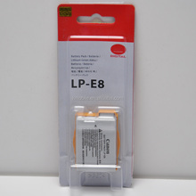 New LP-E8 Battery FOR Canon Kiss X4 X5 X6 Rebel T4i T3i T2i EOS 550D 600D 650D Camera