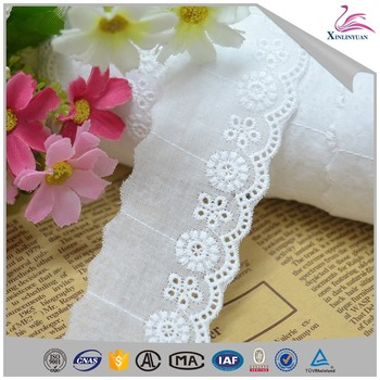 Wedding cotton lace trim for girl dress