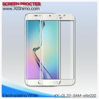 3D curved 100% full cover LCD monitor phone automatic adsorption tempered glass protective film for Samsung Galaxy S6 edge