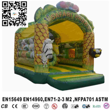 Hot sale commercial safari park bouncy castle combo with slide