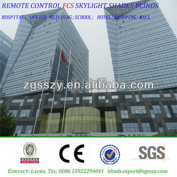 Tianjin Remote Control Skylight Roof Blinds Shades View