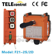 industrial wireless crane remote control F21-2D 2 channel 2 speed push button 1 transmitter 1 receiver