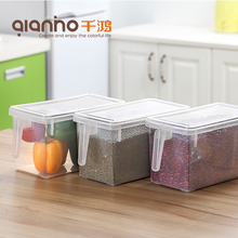 Home storage kitchen crisper organizer clear mini small big large plastic containers with lids handle