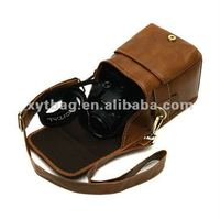 PU leather cool camera bags for women and men