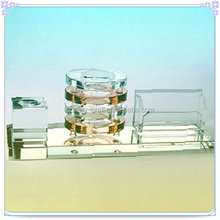 New Design Unique Journey Souvenir Elegant Faceted Glass Desk Sets