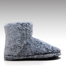 HC-822P coral fleece upper faux fur lining soft sole microwavable fleece slipper boots for lady