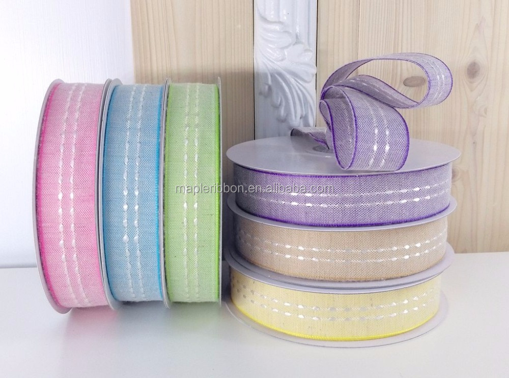 cotton stitched gift ribbon