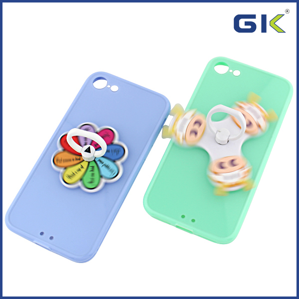 [GK] Fashion With Ring Buckle And Spinning Accessories Hybrid Cover For iPhone 7 Case