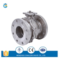 ANSI 2pc ball valve flanged end for wholesale