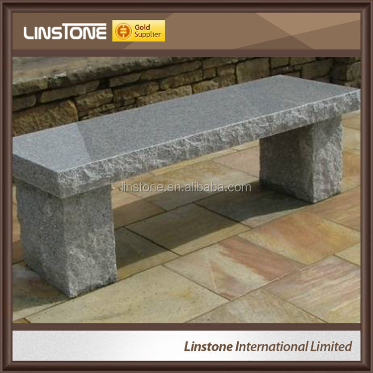 Cheap Price G663 G654 Granite Outdoor Garden Weight Cemetery Bench For Cemetery