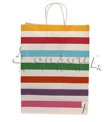 Paper personalized tote bags made by fully automatic machines, flexo printing paper bag