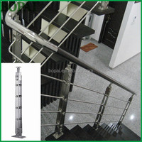 Picture of Exterior glass railing,modern stainless steel stair railing,handrail for stair