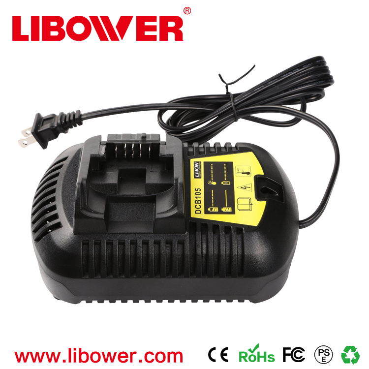 LIBOWER Replacement Fast Charger for Dewalt Power Tool DCB105 12V 14.4v 18v 20V Cordless Power Tools Li-ion battery