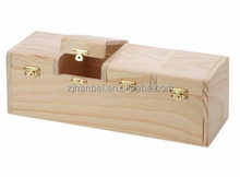 Accept custom natural color unfinished solid pine wooden storage box for seed