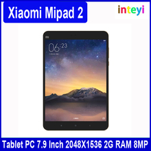 Original Xiaomi Mipad 2 MI Pad 2 Intel Atom X5 Full Metal Body Tablet PC 7.9 Inch 2048X1536 2G RAM 8MP 6190mAh Quick Charger