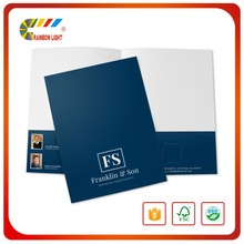 Top quality competitive price bulk a4 portrait full color die cut folder for document