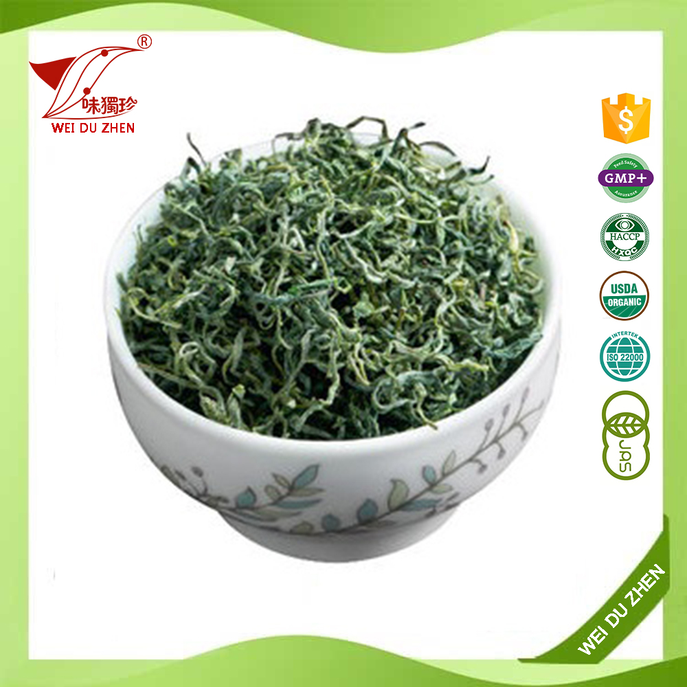 Retail SiChuan Province Loose Leaf Fresh Aloe Green Tea Roasted Green Tea Leaves