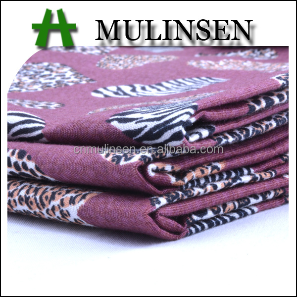 Mulinsen Textile Plain Woven Hearts Printed 97% Cotton 3% Lycra Stretch Poplin Fabric for Garment