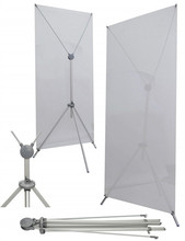Height adjustable X banner stand